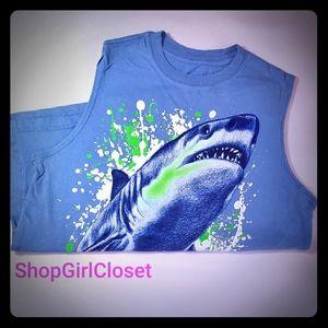 Shark Muscle Shirt Boys Large (10-12)